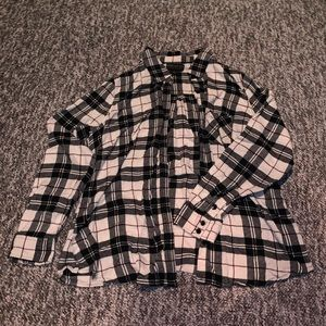 Forever 21 Plus Flannel Button Down Shirt